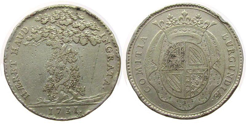 Jeton 1731 Frankreich -- Bourgogne, ca. 30,8 MM, Randstöße ss