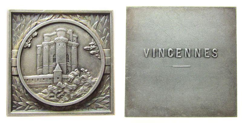 Plakette o.J. Frankreich -- Vincennes (bei Paris) - Chateau de Vincennes, ca. 35 MM vz