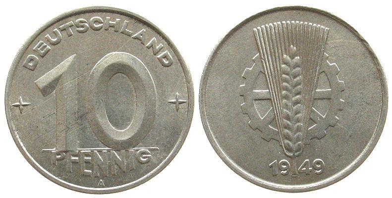 10 Pfennig 1949 DDR Al A, Berlin vz