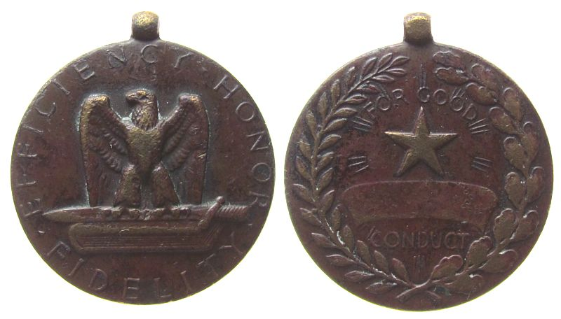 tragbare Medaille o.J. USA Bronze Federal Military service - Efficiency Honor Fidelity, ca. 31,5 MM ss