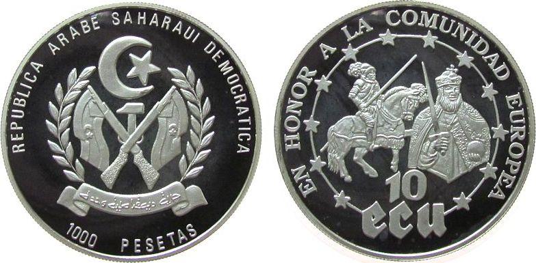 1000 Peseta 1992 Arab. Rep. Sahara Ag Europäische Gemeinschaft, Kaiser Karl V und Karl I pp