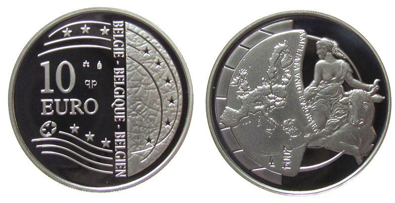 10 2004 Belgien Ag Europa und Stier pp