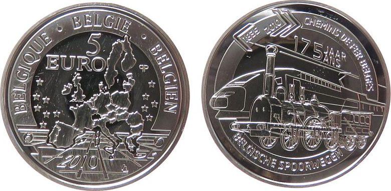 5 Euro 2010 Belgien Ag Eisenbahn pp