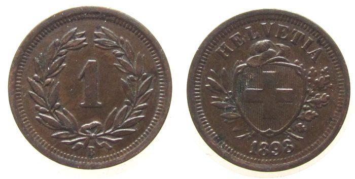 1 Rappen 1898 Schweiz Br HMZ 1215, kleine Druckstelle vz