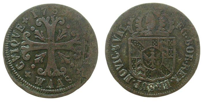 1/2 Batzen 1789 Schweiz Kantone Billon Neuenburg - Neuchâtel, Friedrich Wilhelm II (1786-97), Brandenburg - Preussen s-ss