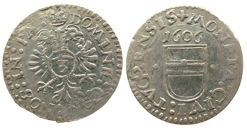 1 Groschen 1606 Schweiz Kantone Ag Zug ss+