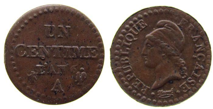 1 Centime 1795-1799 An 6 Frankreich Br Dupré, A (Paris) ss