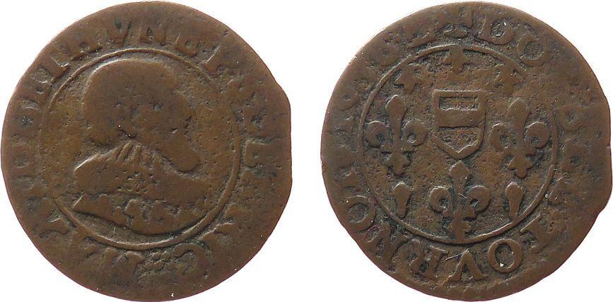Double Tournois 1636 Frankreich Ku Maximilian I. de Bethune (1597-1641) schön
