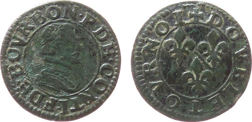 1 Double Tournois 1603-1614 o.J Frankreich Ku Chateau Renaud, Francoise 1603-14 fast schön