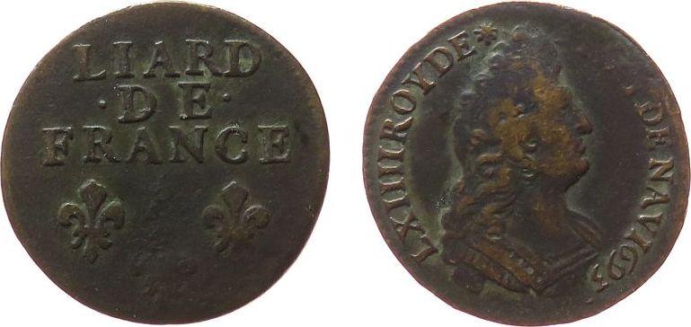 Liard 1693 Frankreich Ku Louis XIV (1643-1715), A (Paris) fast ss