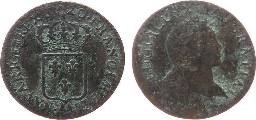 Sol au Buste Enfantin 1720 Frankreich Ku Louis XV, AA (Metz) gutes schön