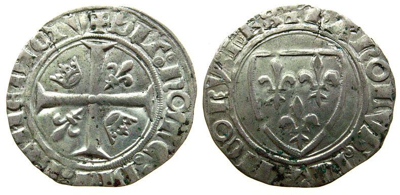 Blanc dit Guénar 1380-1422 o.J Frankreich Ag Charles VI (1380-1422) 2,95 Gramm, Montpellier ss