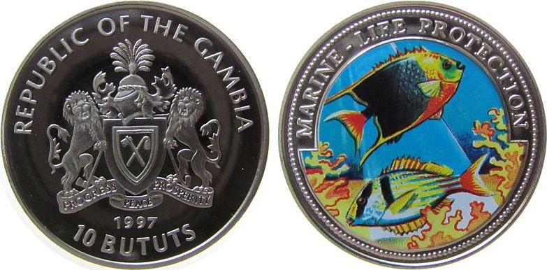 10 Bututs 1997 Gambia KN Fische in Meereslandschaft pp
