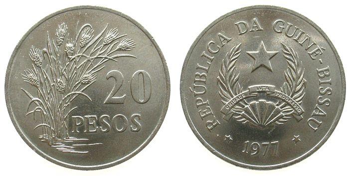 20 Peso 1977 Guinea Bissau KN FAO vz-unc