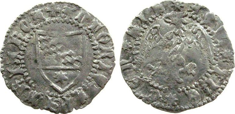1 Denar Aquilea, Patriachat Ag Antonio II Panciera di Portogruaro (1402-11), Wappen / Adler m.Kopf nach links, 0,71 Gramm ss+