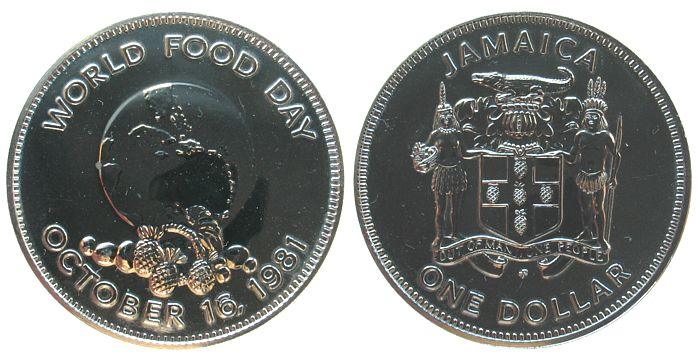 1 Dollar 1981 Jamaika KN FAO unz
