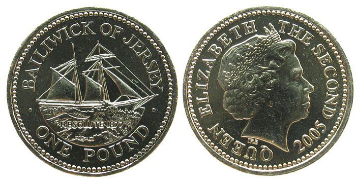 1 Pfund 2005 Jersey NiMs Segelschiff Resolute unz