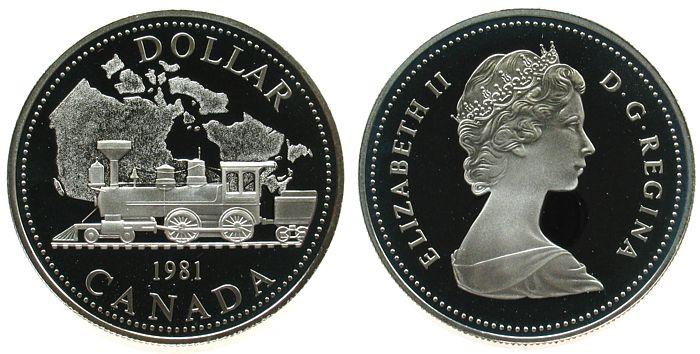 1 Dollar 1981 Kanada Ag Eisenbahn pp
