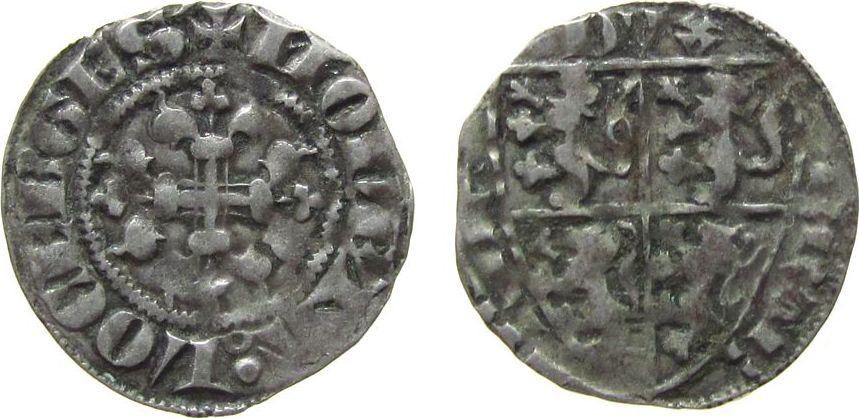 Esterlin 1353 - 83 o.J. Luxemburg Ag Wenceslas I (1353-83), ca. 1,07 Gramm ss