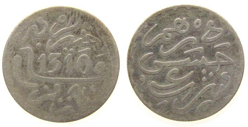 1 Dirham 1892 Marokko Ag Hasan I, AH1310 ss