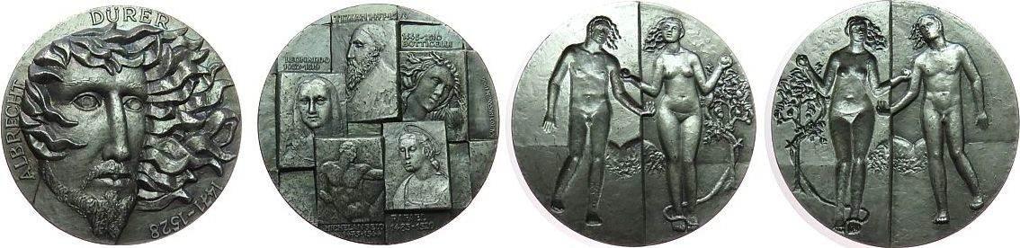 Medaille 1996 Finnland Silber Dürer Albrecht (1471-1528) - auf seinen 525. Geburtstag, Maler und Grafiker, zweiteilige Medaille, Büste mit wehenden Haa gußfrisch