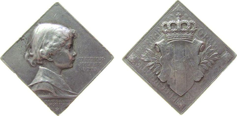 Klippe 1916 Österreich -- Karl I. (1916-1918) - auf den Kronprinzen Franz Joseph Otto, Brustbild nach rechts / Hauswappen Habsburg-Lothringen, v. Kauts ss