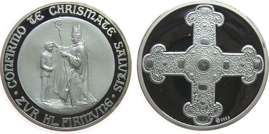 Medaille o.J. Reformation / Religion Silber Firmung, Firmungsszene / Kreuz, ca. 35 MM, ca. 19,77 Gramm pp
