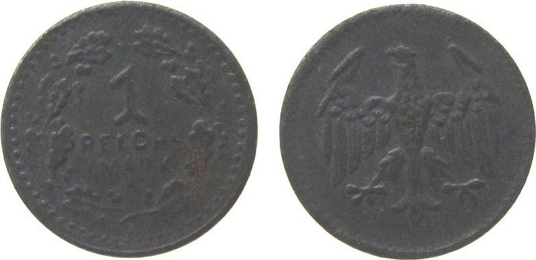 1 Reichsmark o.J. Jetons Eisen Spielgeld, ca. 13 MM ss