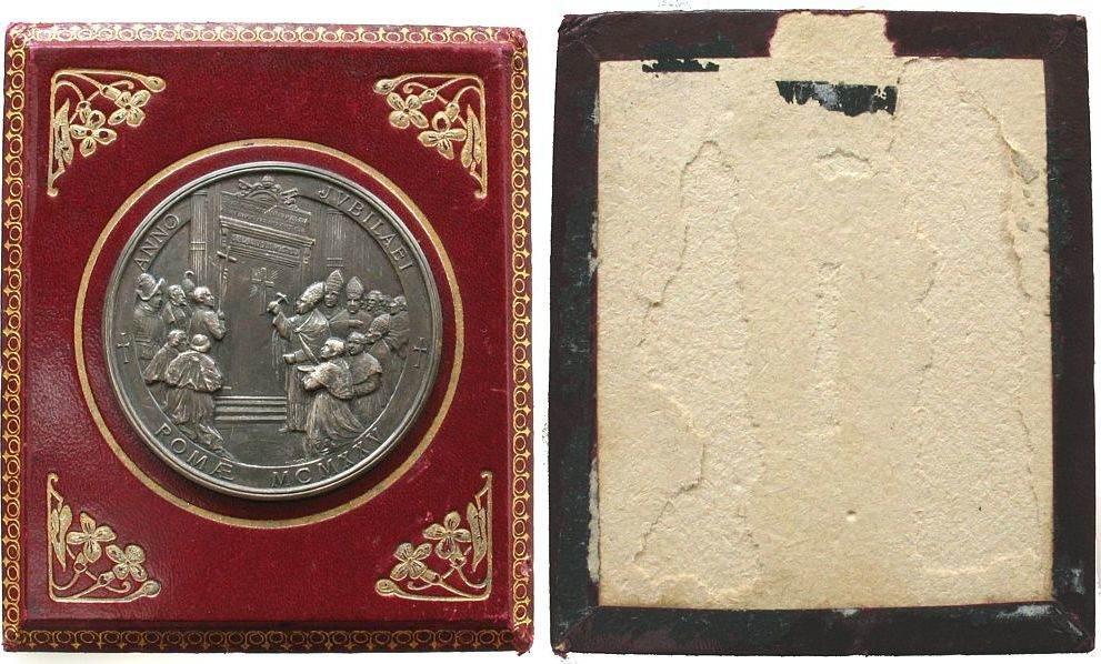 Hohlmedaille 1925 Vatikan Weißmetall Pius XI (1922-1939), auf das ...