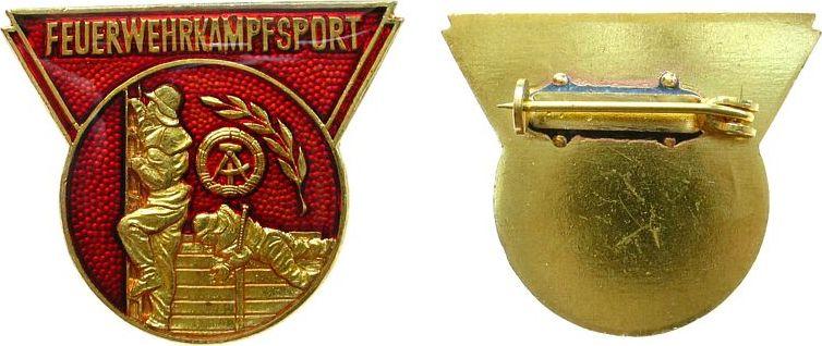 Abzeichen o.J. DDR -- Feuerwehrkampfsport, ca. 29,6 x 35 MM vz-stgl