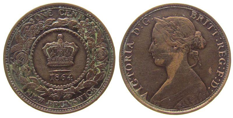 Cent 1864 Neu Brunswick Br Victoria ss