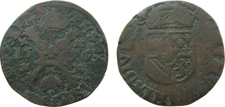 1 Gigot 1596 Belgien Brabant Ku Philipp II von Spanien (1555-98), Anvers, 2,18 Gramm schön-