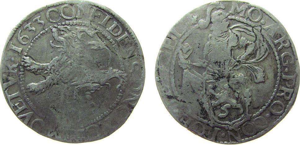 Löwentaler 1633 Niederlande Ag Gelderland, Verkade 11.1 s+