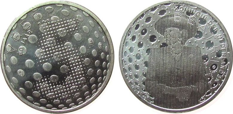 5 Euro 2005 Niederlande Ag Beatrix - 60 Jahre Frieden vz-unc