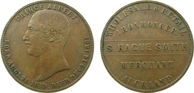 1 Penny Token Neuseeland Ku Aukland, S.Hague Smith, Atkins: 292 ss