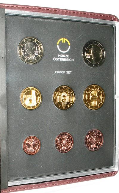 3,88 Euro 2011 Österreich div. Kursmünzensatz, OVP pp