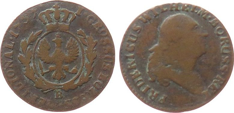 Groschen 1797 Polen Ku Friedrich Wilhelm, B fast ss