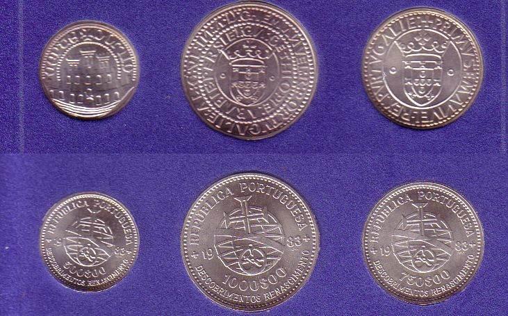 2250 Escudos 1983 Portugal Ag Portugisische Entdeckungen, OVP unz