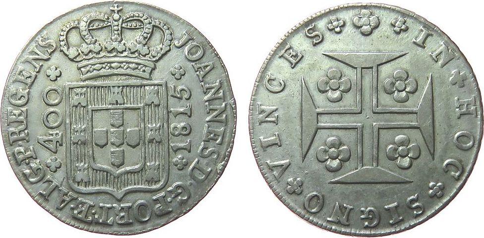 400 Reis 1815 Portugal Ag Joao (1799-1816) ss