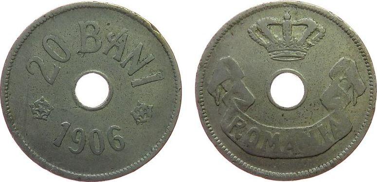 20 Bani 1906 Rumänien KN Carol I ss