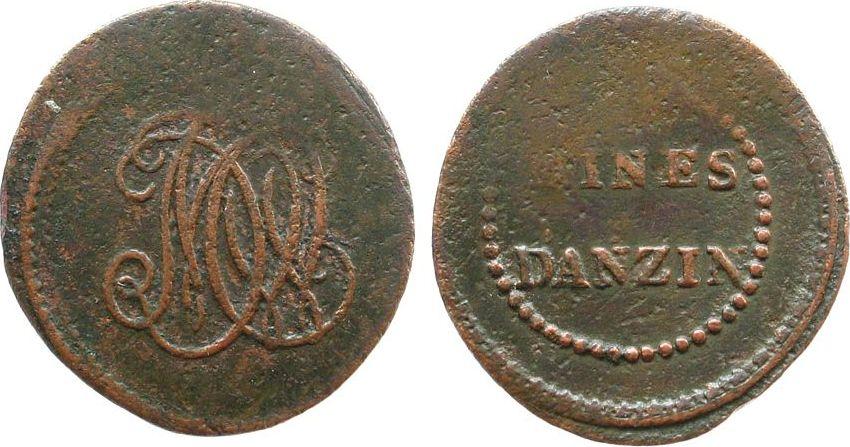 5 Centimes o.J. Frankreich Kupfer Anzin - Kohlemine, Ludwig XVIII, Bergwerksmarke, ca. 27,7 MM sge