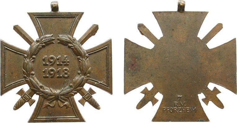 Ehrenzeichen 1918 erster weltkrieg bronze pforzheim 7 r for Window popstate