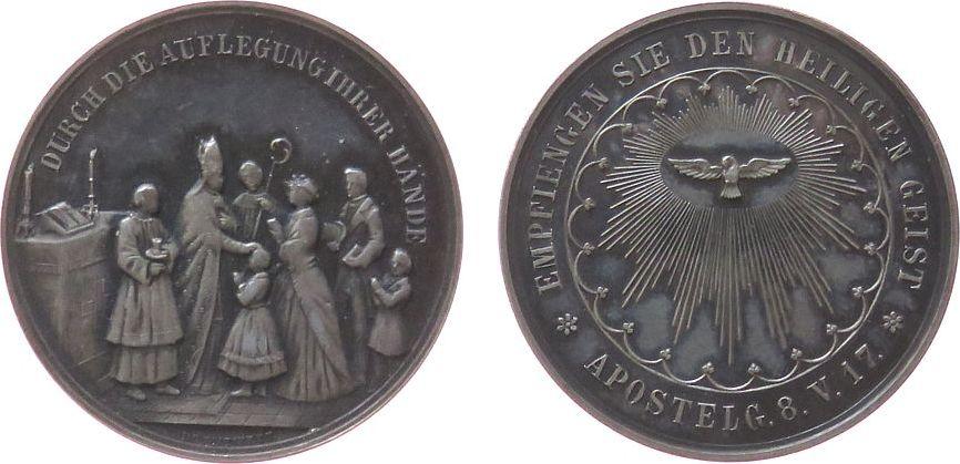 Medaille o.J. Reformation / Religion Silber Firmung, Firmszene