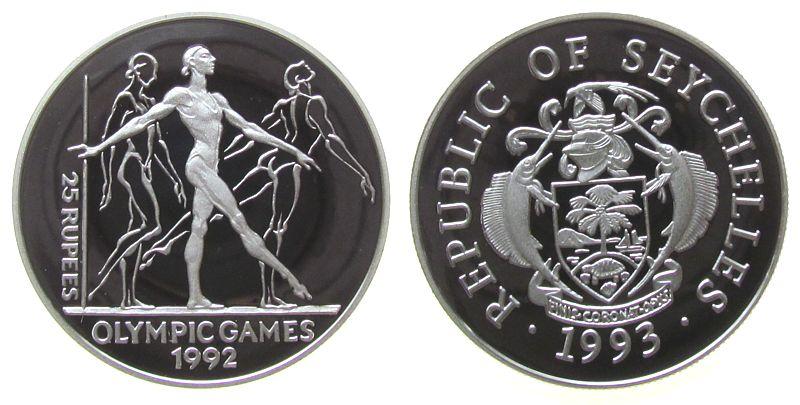 25 Rupien 1993 Seychellen Ag Olympiade Gymnast pp