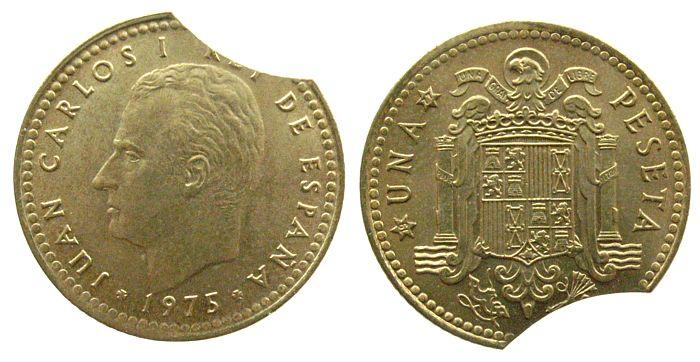 1 Peseta 1975/77 Spanien AlBr Zainende unz
