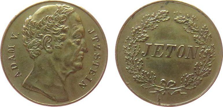 Jeton o.J. vor 1914 Bronze Itzstein Johann Adam von - Vertreter der Volksrechte, Baden, ca. 22 MM ss