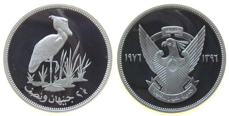 2 1/2 Pound 1976 Sudan Ag Schuhschnabelstorch pp