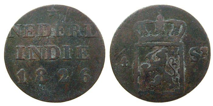 1/4 Stuiver 1826 Sumatra Ku Scholten 647b ss-