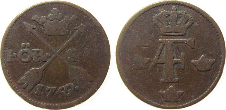 1 Öre 1769 Schweden Ku Adolf Frederik (1751-71) gutes schön