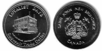 1 $ 1981 Kanada Ni New Brunswick,Saint John, Wappen /33 MM vz-unc